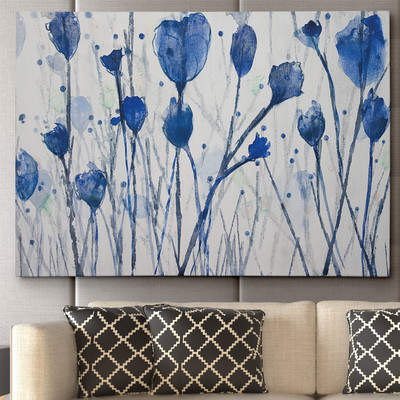 Wayfair Blue Day Garden by Susan Jill Painting Print on Wrapped Canvas