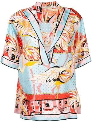 Emilio Pucci birds print blouse