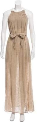 L'Agence Linen Maxi Dress