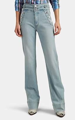 Current/Elliott Women's Maritime High-Rise Flared Jeans - Blue