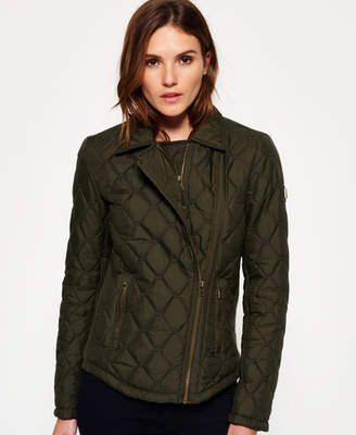 Superdry Cary Quilted Biker Jacket