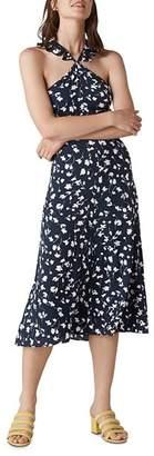 Whistles Celia-Print Midi Dress