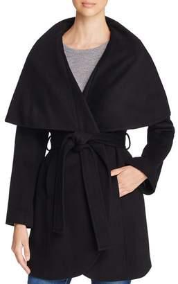 T Tahari Marla Oversized Shawl Collar Coat