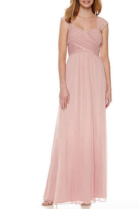 bb9a468cc715 Scarlett Sleeveless Lace-Shoulder Formal Gown. JCPenney ...