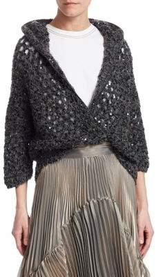 Brunello Cucinelli Sequin Sparkling Knit Hoodie