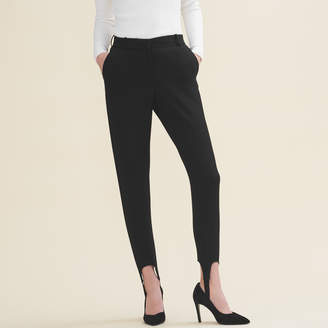 Maje Straight-cut crepe stirrup trousers