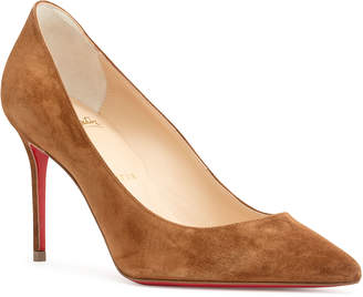 Christian Louboutin Decollete 85 tan suede pumps