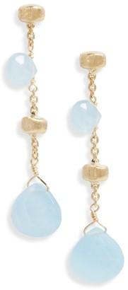 Women's Marco Bicego Paradise Semiprecious Stone Linear Drop Earrings $920 thestylecure.com