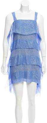Tracy Reese Ruffle Silk Mini Dress