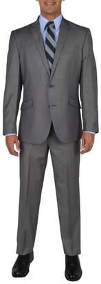 Kenneth Cole Reaction Techni-Cole Basketweave Two Button Notch Lapel Slim Fit Suit