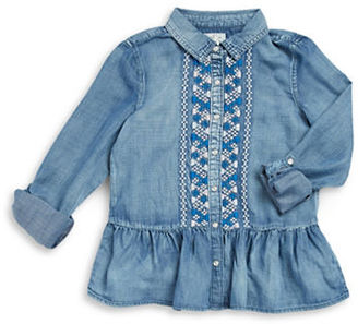 Jessica Simpson Girls 7-16 Embroidered Peplum Blouse $54.50 thestylecure.com