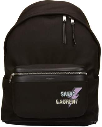 Saint Laurent Logo Print Backpack