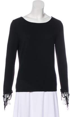 Valentino Bateau Neck Long Sleeve Top