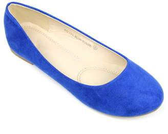 Bella Marie Women's Cute Casual Comfort Slip On Round Toe Ballet Suede Flat Shoes (6.5, )