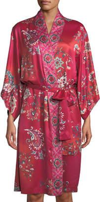 Natori Buddakan Paisley-Print Robe