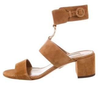 Aquazzura Suede Ankle Straps Sandals