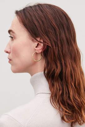 Cos GOLD-PLATED HOOP EARRINGS