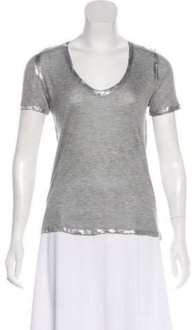 Zadig & Voltaire Tino Metallic T-Shirt