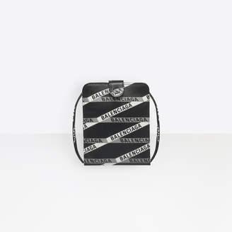 Balenciaga Soft calfskin monogram printed continental strap wallet