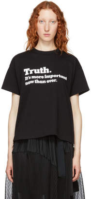 Sacai Black Truth T-Shirt