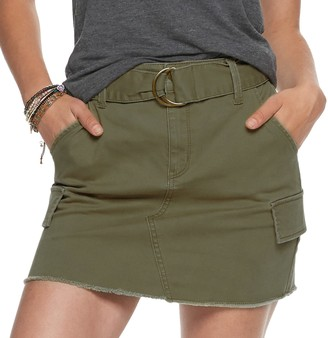 Mudd Juniors' D-Ring Twill Skirt