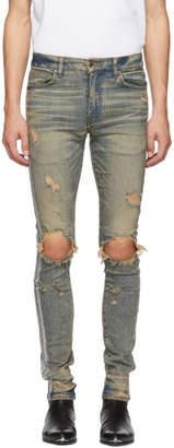 Amiri Indigo Silver Glitter Jeans