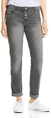 Cecil Women's 371540 Scarlett Grey Straight Jeans,36W x 32L