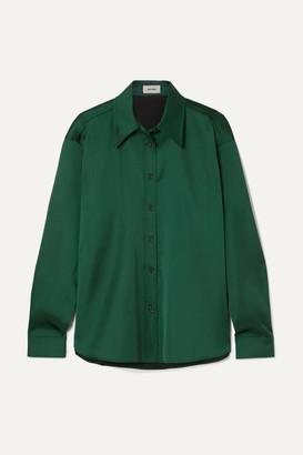 we11done Duchesse-satin Shirt - Emerald