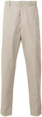 Incotex plain tapered trousers
