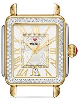 Michele Deco Madison Diamond Watch Head, 33mm x 35mm