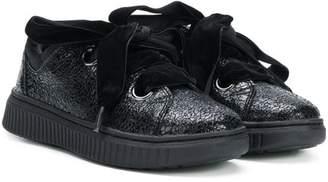 Geox Kids cracked effect sneakers