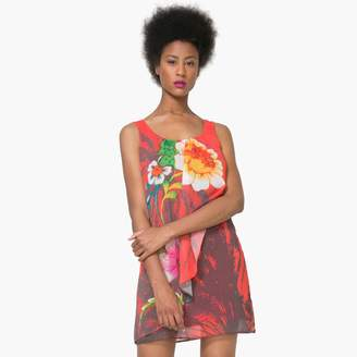 Desigual Short Sleeveless Floral Print Dress