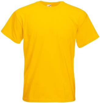 Fruit of the Loom Mens Super Premium Short Sleeve Crew Neck T-Shirt (M)