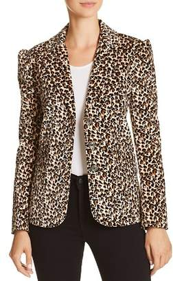 Rebecca Taylor Leopard-Printed Velvet Blazer