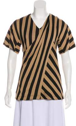 Just Cavalli Striped Short Sleeve Blouse
