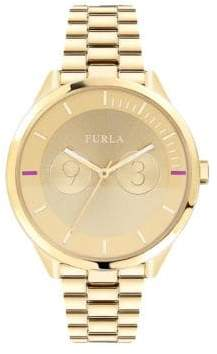 Furla Metropolis Goldtone Dial Stainless Steel Watch