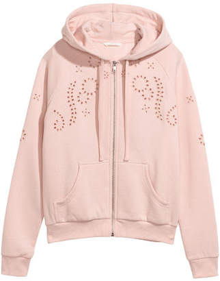 H&M Hooded Jacket with Embroidery - Pink