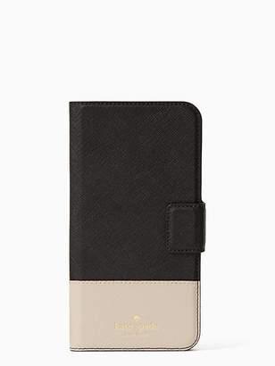 Kate Spade Leather wrap iphone 7 & 8 folio case