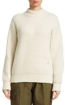 Victoria Beckham Alpaca& Wool Cable Knit Sweater