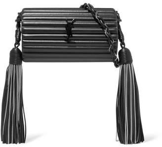 Opium Tasseled Leather Shoulder Bag - Black