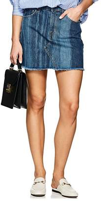 Derek Lam 10 Crosby Women's Raw-Edge Denim Miniskirt