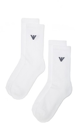 Emporio Armani 2 Pack Athletic Solid Socks $25 thestylecure.com