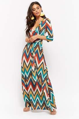 Forever 21 Chevron Print Maxi Dress
