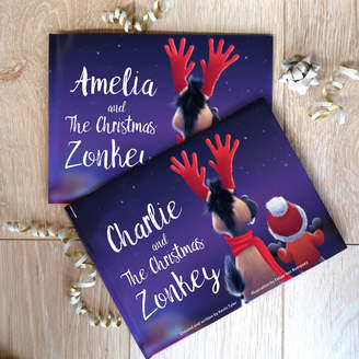 """story. MY GIVEN NAME Personalised """"The Christmas Zonkey Book"""