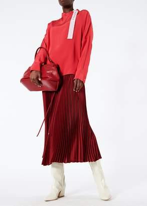 Tibi Silk Color Block Dolman Top