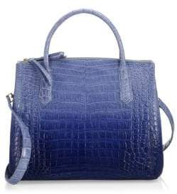 Nancy Gonzalez Medium Nix Ombre Crocodile Top Handle Bag