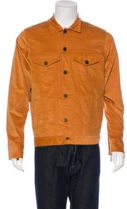 En Noir Embroidered Trucker Jacket