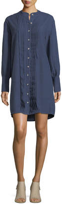 MiH Jeans Sunbeam Button-Front Pleated Shirtdress