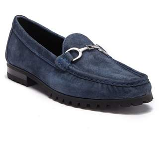 Donald J Pliner Tyros Washed Suede Bit Loafer