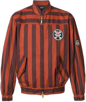 Vivienne Westwood Man striped bomber jacket